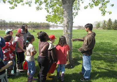 Students on nature walk
