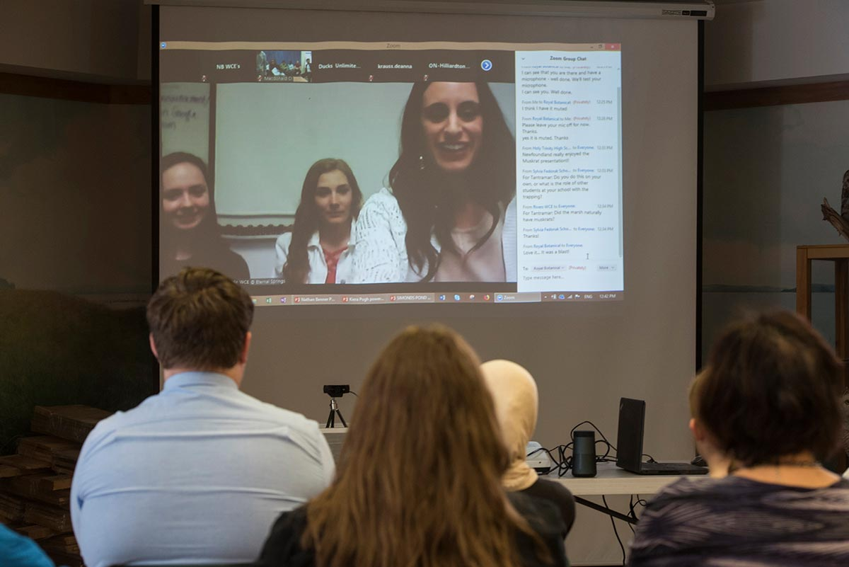 Students in WCE video conference